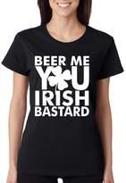 Allntrends Women's T Shirt Beer Me You Irish St Patrick's Day T Shirt (2XL, )