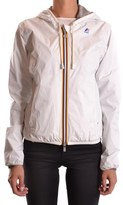 K-Way Women's White Polyamide Outerwear Jacket.