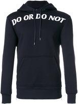 Neil Barrett Do or Do Not hoodie - men - Polyurethane/Viscose - S