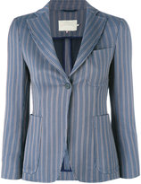 L'Autre Chose striped blazer - women - Cotton/Spandex/Elastane/Cupro - 40