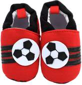 Baby Boys Girls Shoes HooH Moccasins Soft Sole Pre-walker Crib Cartoon Toddler Shoes Red