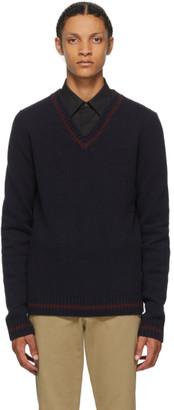 Maison Margiela Navy Wool School Boy Sweater