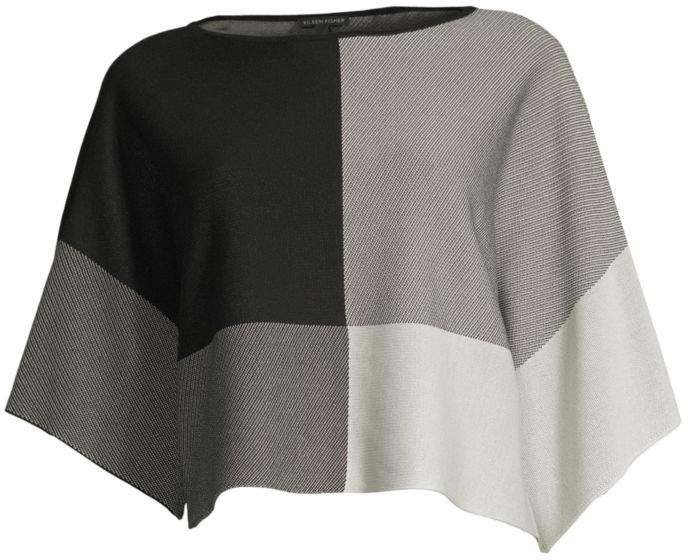 Eileen Fisher Bateau Neck Three-Quarter Sleeve Top