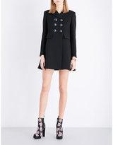 Alexander McQueen Button-detail wool and silk-blend coat