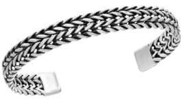 Effy 0.925 Sterling Silver Woven Cuff Bangle
