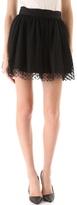 Milly Aspirin Dot Tulle Skirt