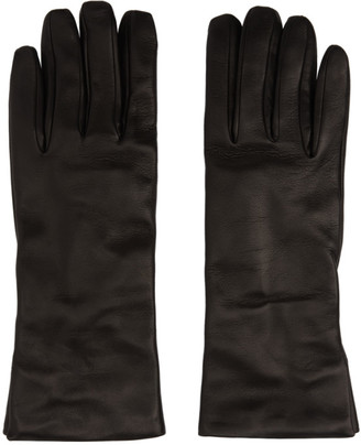 Ann Demeulemeester Black Leather Classic Gloves