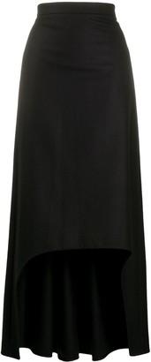 Alexander McQueen High-Low Long Skirt