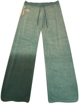 Juicy Couture Turquoise Cotton Trousers for Women