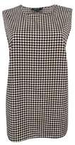 Lauren Ralph Lauren Women's Sleeveless Printed Top (M, Black/Cream)
