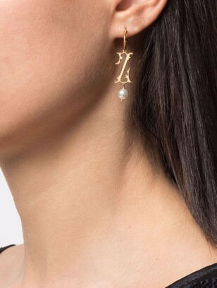 Simone Rocha Z initial-pendant single earring