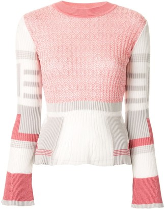 Mame Kurogouchi Ribbed Colour Block Jumper
