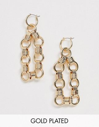 Regal Rose gold plated chain link earrings
