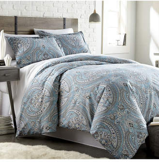 Southshore Fine Linens Pure Melody Classic Paisley 3 Piece Reversible Comforter Set, Full/Queen Bedding