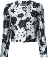 Monique Lhuillier floral cloque jacquard jacket