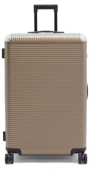 FPM Milano Bank Light Spinner 76 Aluminium Suitcase - Brown