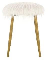 Carolina Chair & Table Shea Faux Fur Ottoman/ Foot Rest