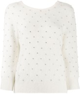 White Sweater with Rhinestones