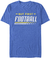 Fifth Sun Royal Blue Heather 'But First Football' Tee - Men's Regular & Big
