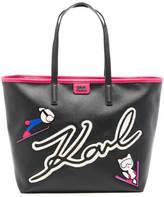 Karl Lagerfeld Women's Ski Holiday Shopper Bag Black
