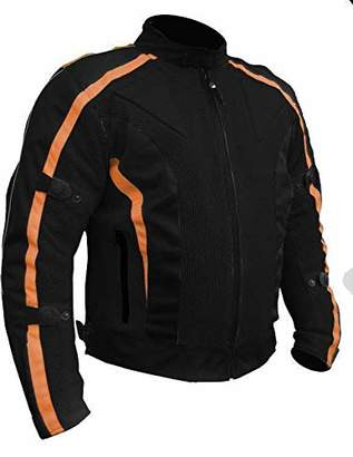 Bikers Gear Australia Chicane Lightweight Summer Air Flow Mesh Vented Motorcycle Jacket with CE 1621-1 Removable Armour Waterproof Liner Cordura, Black / L