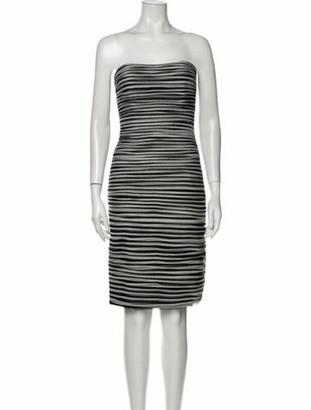 Jovani Striped Mini Dress Black