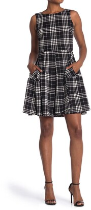 Taylor Plaid Sleeveless Fit & Flare Dress