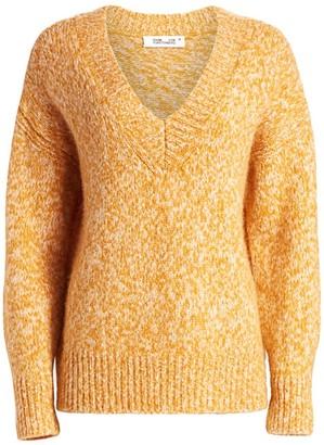 Diane von Furstenberg Carmella V-Neck Wool-Blend Sweater