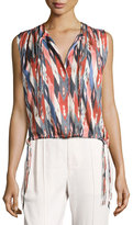 Etoile Isabel Marant Hervey Sleeveless Drawstring Top, Ivory