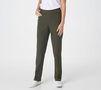 Denim & Co. Stretch Twill Pull-On Straight-Leg Pants