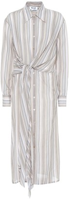 Acne Studios Striped cotton shirt dress