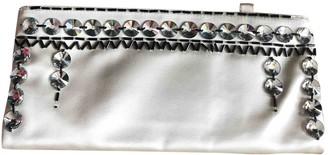 Prada White Silk Clutch bags