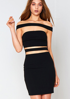 Black Cut Out Bodycon Dress - ShopStyle UK