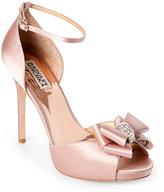 Badgley Mischka Blush Becky Embellished Ankle Strap d'Orsay Sandals
