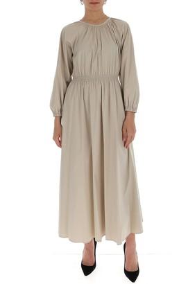 Max Mara 'S Gathered Long Sleeve Dress