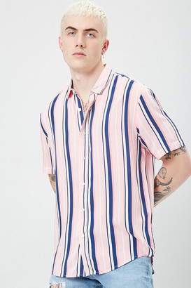 Forever 21 Classic Fit Striped Shirt