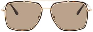 Tom Ford Rose Gold and Tortoiseshell Lionel Sunglasses