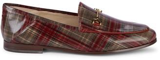 Sam Edelman Loraine Plaid-Print Leather Loafers