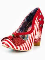 Irregular Choice Wanderlust Heart And Stripe Court Shoe