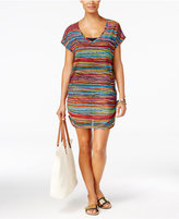 Anne Cole Pick Up Stix Striped Mesh Tunic Cover Up