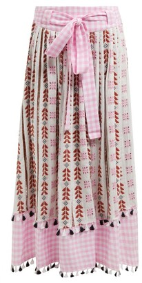 Dodo Bar Or Antonella Embroidered Cotton Skirt - Pink Multi