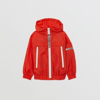 Burberry Logo Print Lightweight Hooded Jacket
