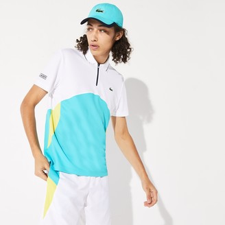 Lacoste Men's SPORT Ultra-Dry Pique Zip Tennis Polo Shirt