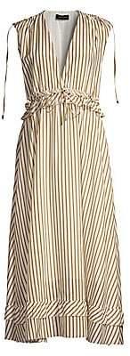 Robert Rodriguez Women's Mariel Striped Cotton Midi Dress