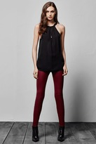 J Brand L8001 Mid-Rise Stretch Leather Pant in Oxblood