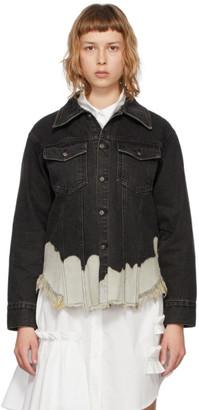 Sjyp Black Denim Bleached Jacket