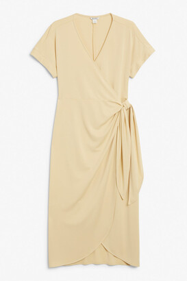 Monki Wrap midi dress