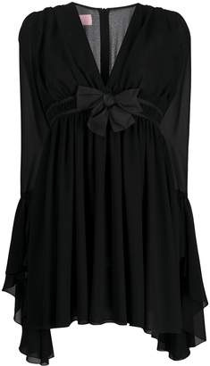 Giamba fluted-cuff babydoll dress
