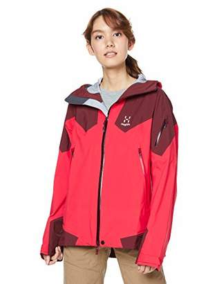 Haglöfs ROC Spire Jacket for Women, Womens, HA604358, Hibiscus Red/Maroon RedS