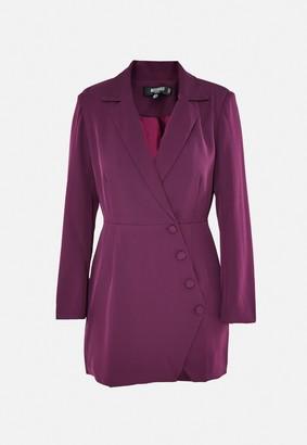 Missguided Petite Purple Button Side Blazer Dress